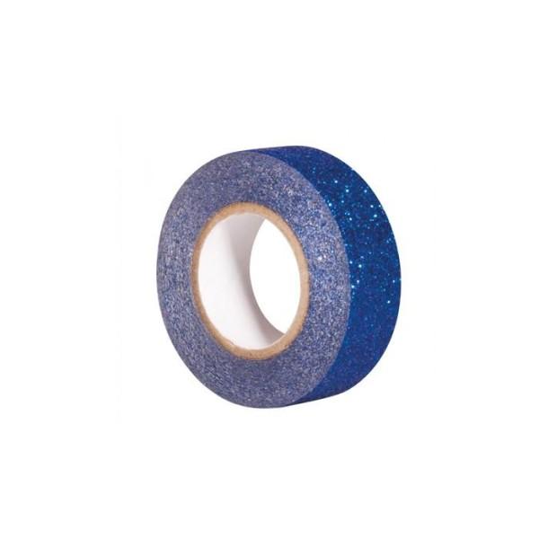 Glitter tape 5 m x 1,5 cm - bleu nuit - Photo n°1