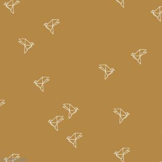Tissu Atelier Brunette Overnight - Bye Bye Birdie - Par 10 cm (sur mesure)