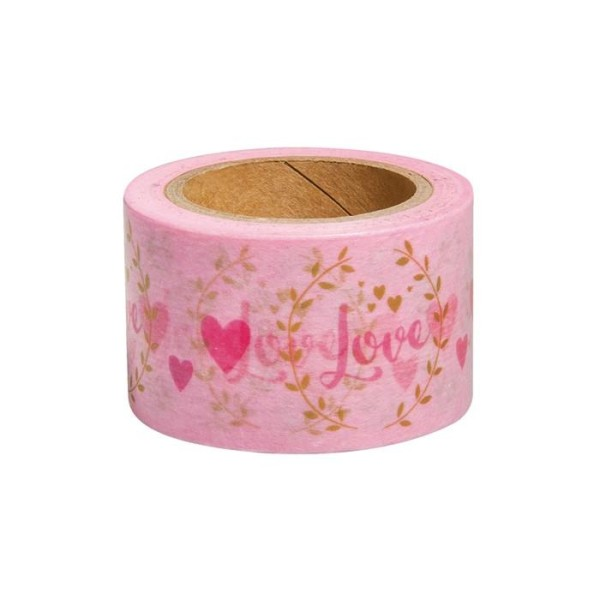 Washi Tape Love sur fond blanc - 15 m x 3 cm - Photo n°1