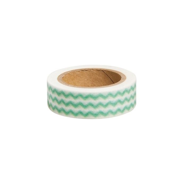 Washi Tape Zigzag vert - 15 m x 1,5 cm - Photo n°2