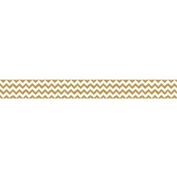 Washi Tape Zigzag doré - 15 m x 1,5 cm - Photo n°2