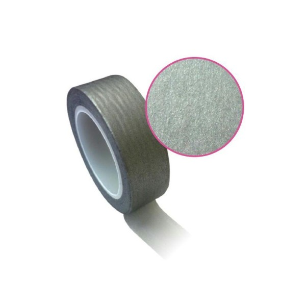 Masking tape 1,5 cm x 10 m - argenté - Photo n°2