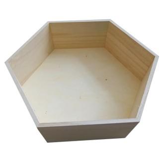 Etagère hexagonale en bois 36 x 31 x 10 cm