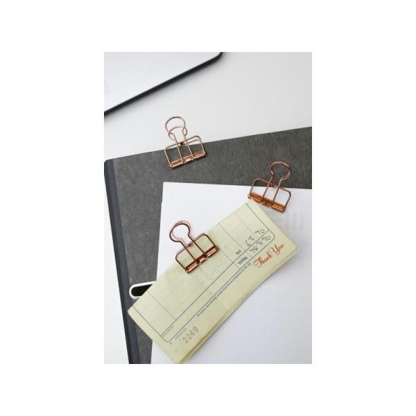 Pinces double-clip x 6 - cuivré - Photo n°2