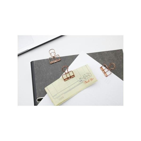 Pinces double-clip x 6 - cuivré - Photo n°3
