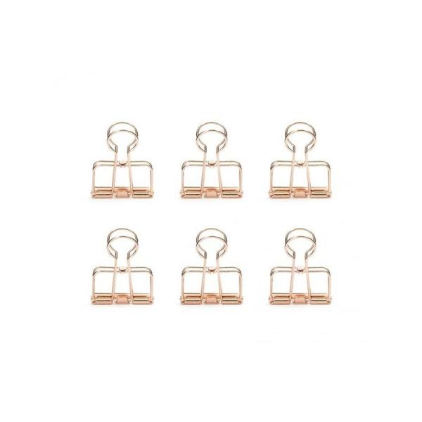 Pinces double-clip x 6 - cuivré - Photo n°1