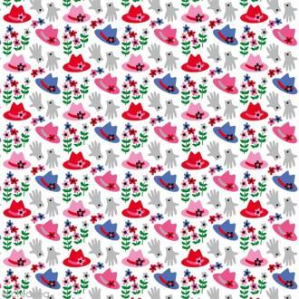 Tissu Atelier Brunette Fifi Mandirac - Couvre toi bien - Par 10 cm (sur mesure)