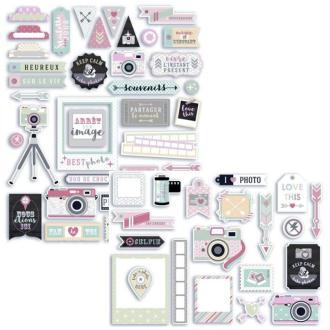 Kit de formes découpées et stickers Photographie Clic Clac