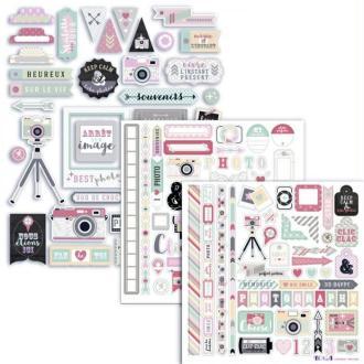 Kit formes découpées et stickers Epoxy Photographie Clic Clac