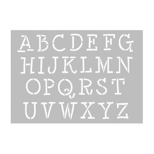 Pochoir à lettres majuscules - Photo n°1