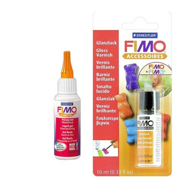 FIMO Soft liquide 50 ml + Vernis brillant 10 ml - Staedtler - Photo n°1