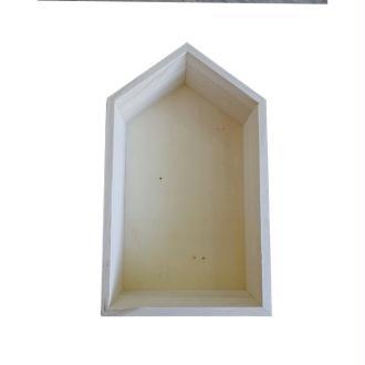 Etagère en bois maison 30,5 x 18 x 10 cm