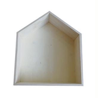 Etagère en bois maison 35 x 30 x 10 cm