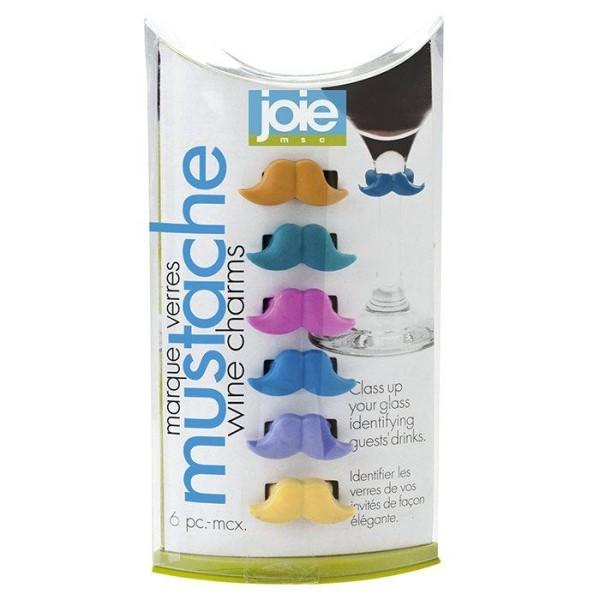 6 marque-verre en silicone - Moustache - Photo n°2