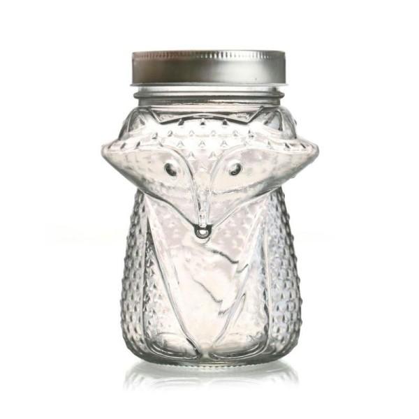 Bocal verre avec couvercle 55 cl - Renard - Photo n°1