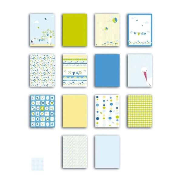 Bloc de papier pour Scrapbooking Le p'tit Bloc - 28 feuilles - bleu - Photo n°1