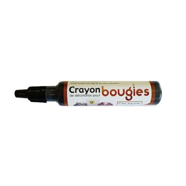 Crayon cire liquide pour bougie - Noir - Photo n°1