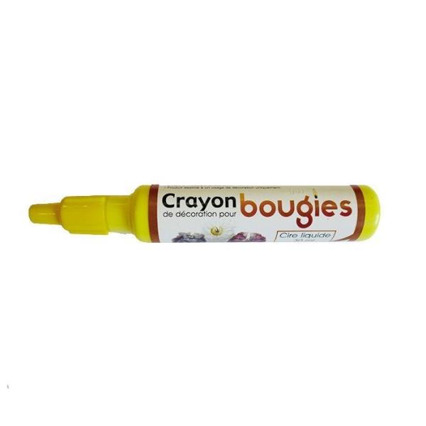 Crayon cire liquide pour bougie - Jaune - Photo n°1