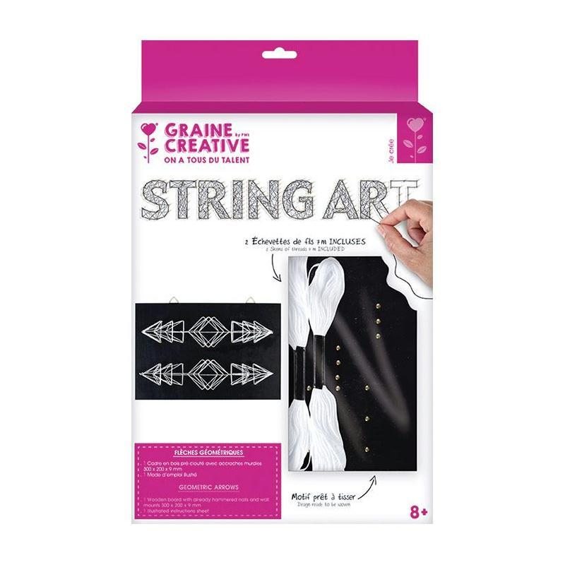 Coffret string art tableau noir fl ches d co art filaire for Journal art et decoration