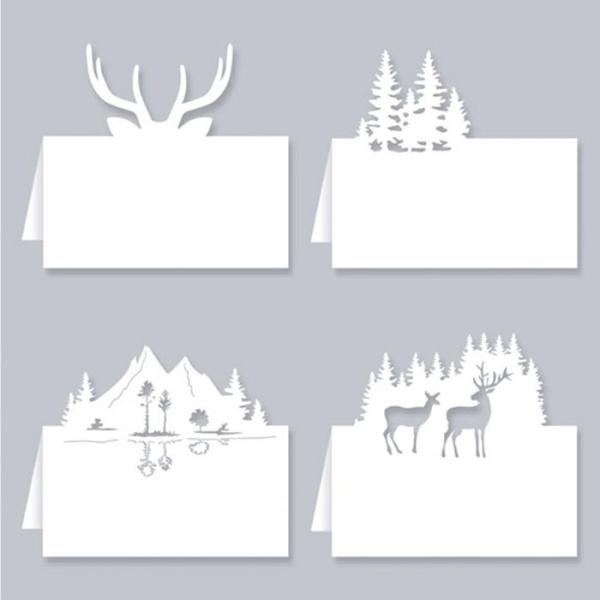 Marque places pour table de Noël - Forêt - Photo n°2