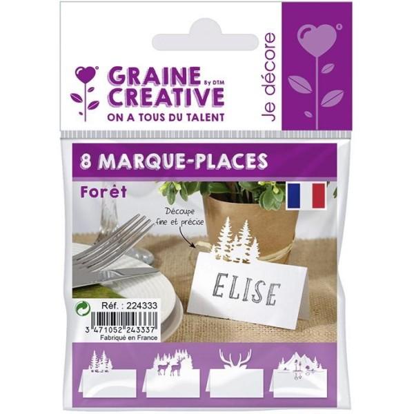 Marque places pour table de Noël - Forêt - Photo n°1
