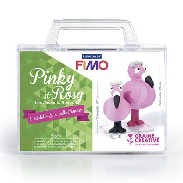 Coffret FIMO Ma première figurine - Pinky et Rosy les flamants roses - Photo n°2