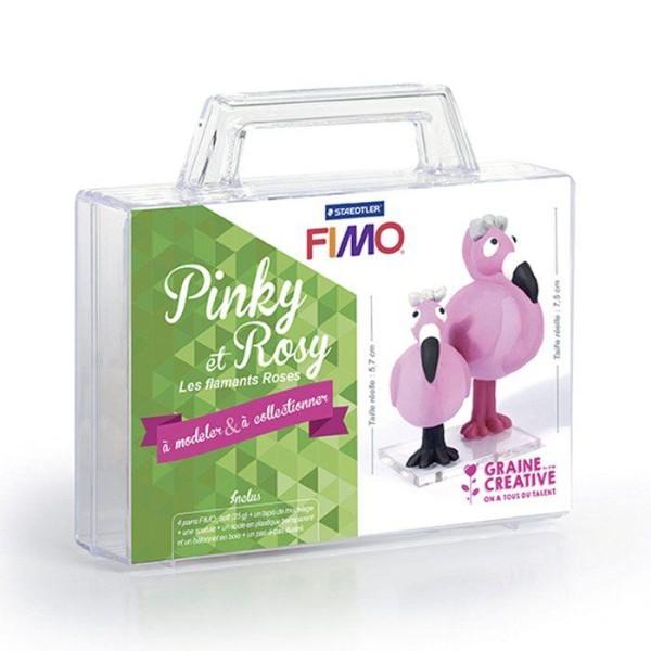 Coffret FIMO Ma première figurine - Pinky et Rosy les flamants roses - Photo n°1