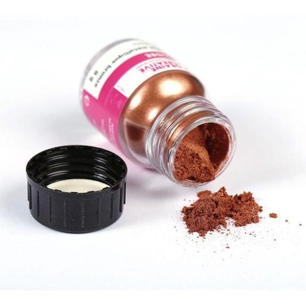 Poudre effet métallique bronze pour pâte FIMO - 8 g - Photo n°1