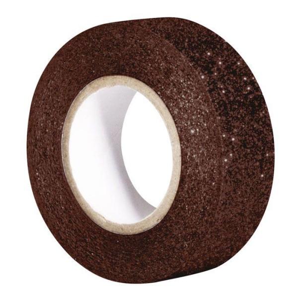 Masking tape à paillettes 5 m x 15 mm - marron - Photo n°1