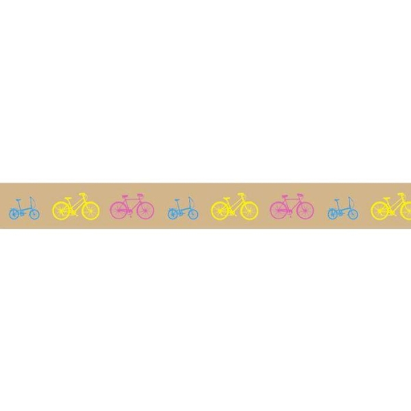 Masking tape bicyclettes 5 m x 15 mm - Photo n°1