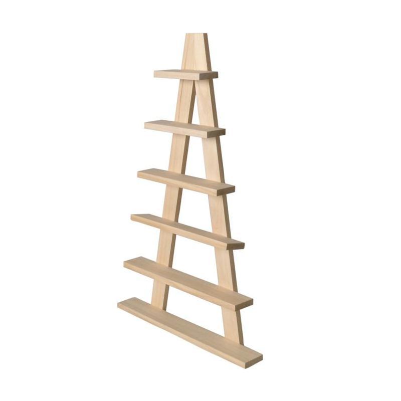 etag re en bois chevalet 6 planches 30 x 50 5 cm. Black Bedroom Furniture Sets. Home Design Ideas