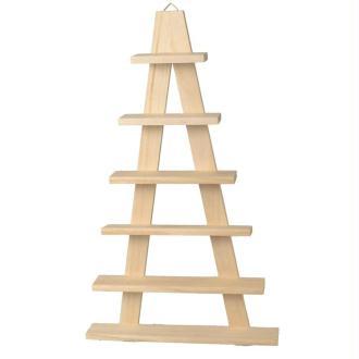 Etagère en bois chevalet - 6 planches 30 x 50,5 cm