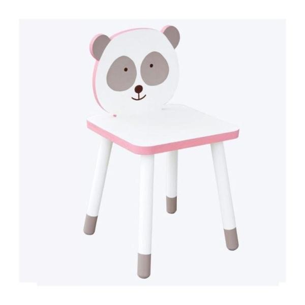 Chaise en bois pour enfant à peindre 29 x 53 cm - Petit Panda - Photo n°2