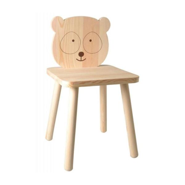 Chaise en bois pour enfant à peindre 29 x 53 cm - Petit Panda - Photo n°1