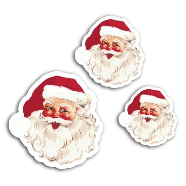 12 formes découpées pour scrapbooking Père Noël vintage - Dear Santa - Photo n°2