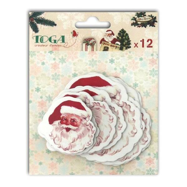12 formes découpées pour scrapbooking Père Noël vintage - Dear Santa - Photo n°1