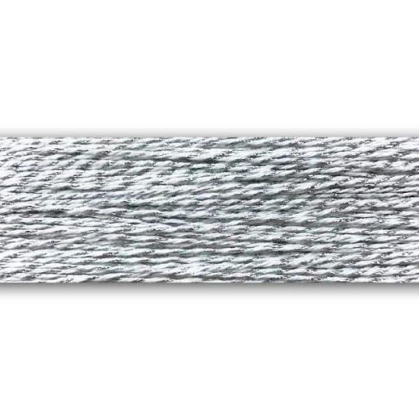 Bobine de ficelle Baker's Twine argenté et blanc - 100 m - Photo n°2
