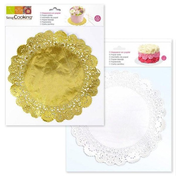 Napperons blancs et napperons dorés - Photo n°1
