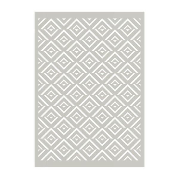 Pochoir motif amérindien - 10 x 15 cm - Photo n°1
