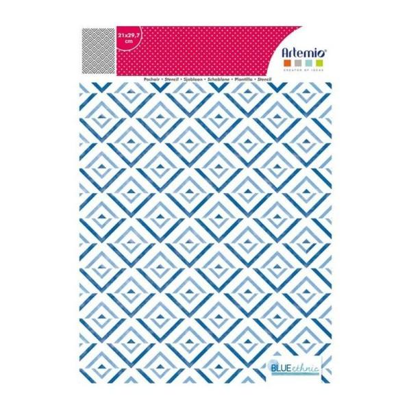 Pochoir motif amérindien - 21 x 29,7 cm - Photo n°2