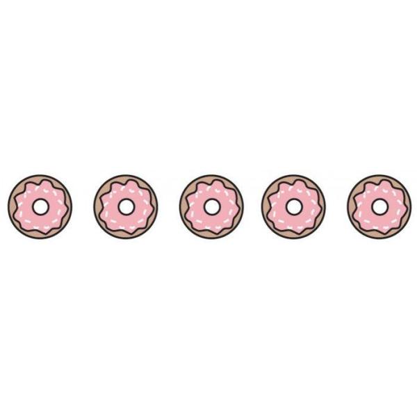 Masking tape 10 m x 1,5 cm - Donuts rose - Photo n°1