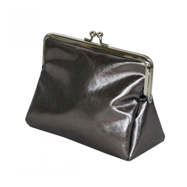 Tissu simili cuir 70 x 65 cm effet métallique - Argenté - Photo n°3