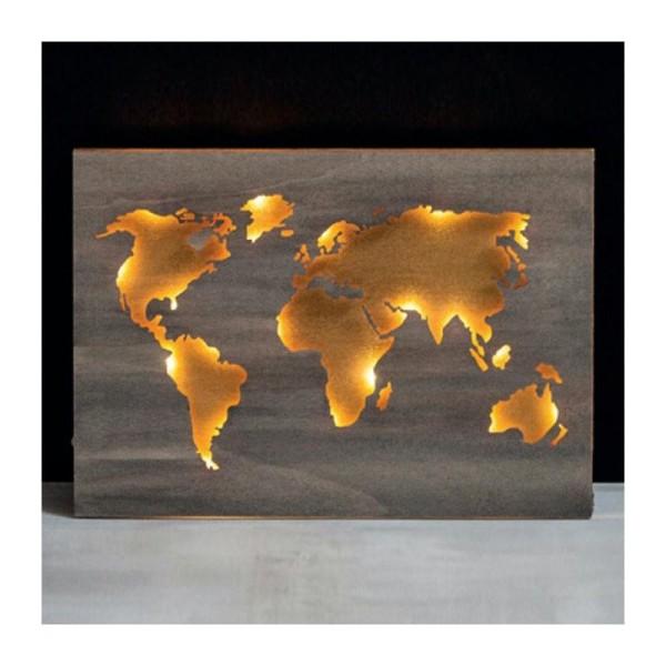 carte du monde en bois d co murale creavea. Black Bedroom Furniture Sets. Home Design Ideas