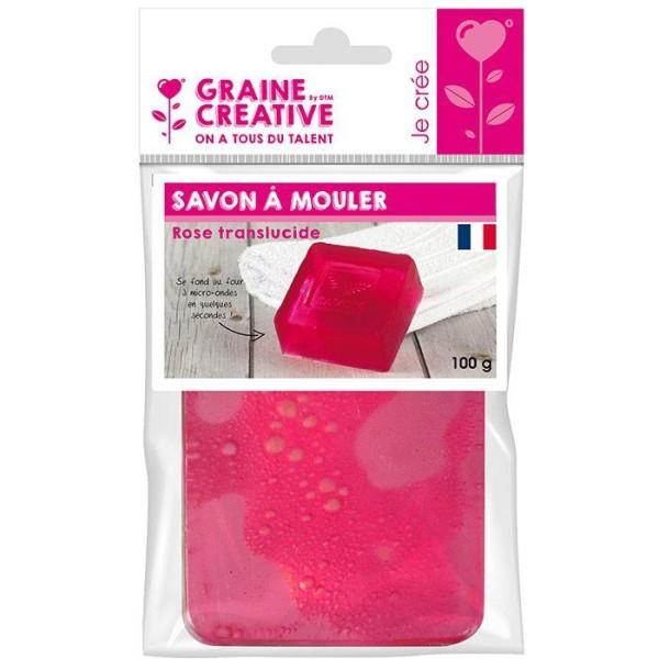 Savon à mouler 100 g - Translucide rose - Photo n°1