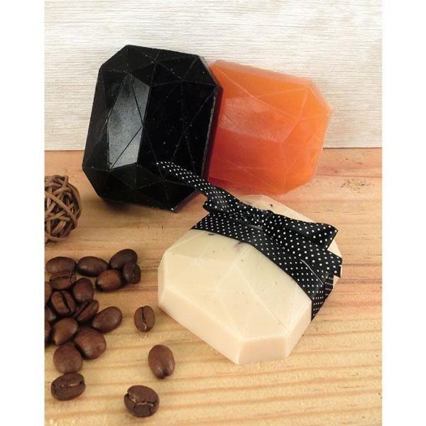 Mini moule à savon - Diamant rectangle - Photo n°2
