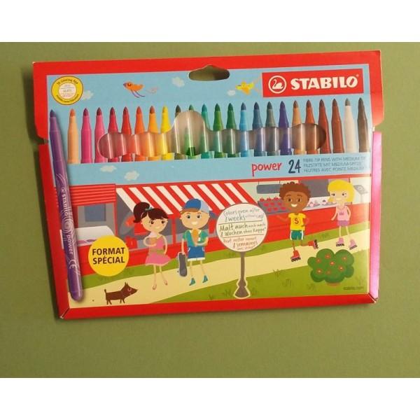 24 Crayons feutres Stabilo - Photo n°1