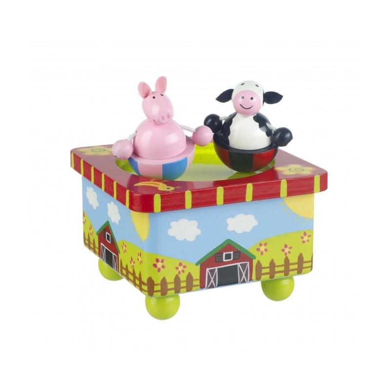 bo te musique de la ferme partir de 36 mois jouets en bois creavea. Black Bedroom Furniture Sets. Home Design Ideas