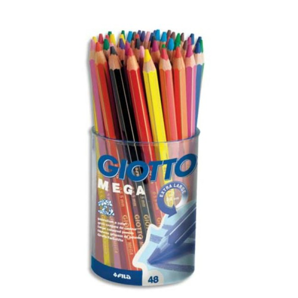 48 Crayons de couleurs Giotto Mega - Photo n°1