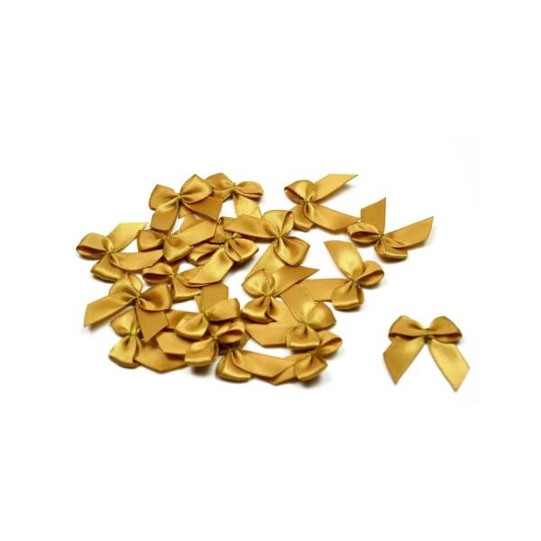 Sachet de 20 nœuds en satin de belle qualite doré 687 - Photo n°1