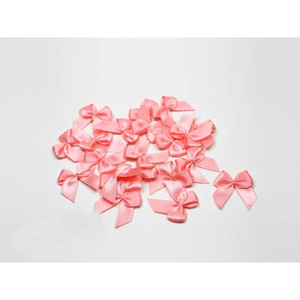Sachet de 20 nœuds en satin de belle qualite rose 150 - Photo n°1